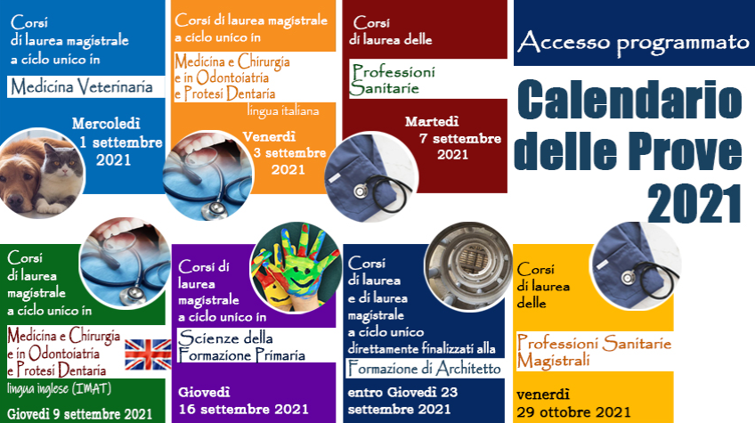 Studies in Italy – Entrance Exams Schedule